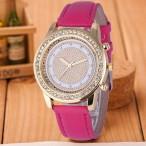 Snygg damklocka med kristaller, armband 6 valbara färger (Damklockor) från klockor4you.se