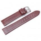 Klockarmband, brunrött, 18 mm, läderarmband, nytt