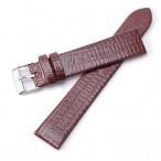 Klockarmband, brunrött, 18 mm, läderarmband, nytt (Klockarmband) från klockor4you.se
