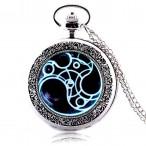 Doctor Who Gallifreyan, halsbandsklocka, hängur, fickur, retro stil