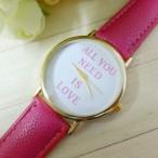 """""""All You Need Is Love"""" klocka, finns i 4 färger - välj (Barn - ungdomar) från klockor4you.se"""