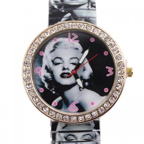 Marilyn Monroe klocka, elastiskt armband, passar nästan alla (Unisex klockor) från klockor4you.se