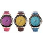 Alias Kim Bling Bling Glitter klocka, 3 färger, helt nya