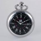 AK Homme fickur, silverfärgad boett, svart urtavla, romerska siffror, nytt (AK herrklockor) från klockor4you.se