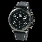 AK Homme klocka, färger svart och vit, gummi armband