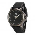AK Maritime klocka, färger svart och vit, gummi armband