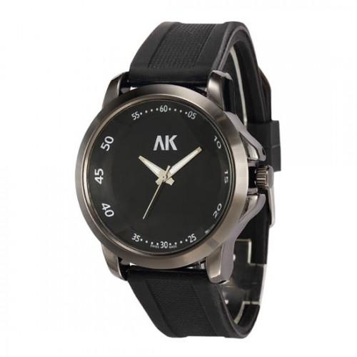 AK Maritime klocka, färger svart och vit, gummi armband (Barn - ungdomar) från klockor4you.se
