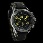 AK Homme klocka, färger svart och gul, gummi armband