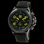 AK Homme klocka, färger svart och gul, gummi armband (AK herrklockor) från klockor4you.se