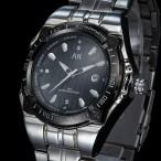 AK armbandsur, datum, armband i rostfritt stål