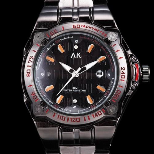 AK armbandsur orange, datum, armband i rostfritt stål (AK herrklockor) från klockor4you.se