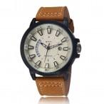 CURREN klocka, datum, läderarmband, original
