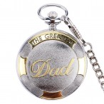 """""""The Greatest Dad"""" fickur, silver- och guldfärgat, quartz, romerska siffror, nytt"""