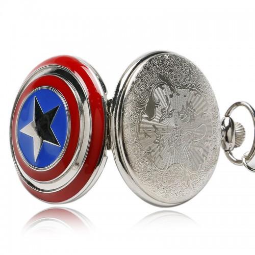 Captain America, Marvel, fickur, halsbandsklocka (Barn - ungdomar) från klockor4you.se