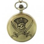 Pirat skalle och korsade svärd, m.2, fickur, hängur