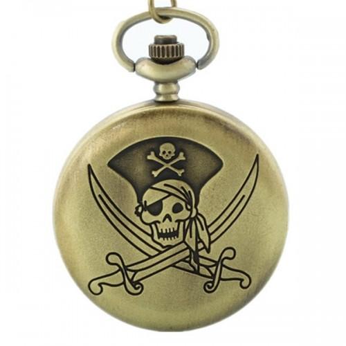 Pirat skalle och korsade svärd, m.2, fickur, hängur (Barn - ungdomar) från klockor4you.se
