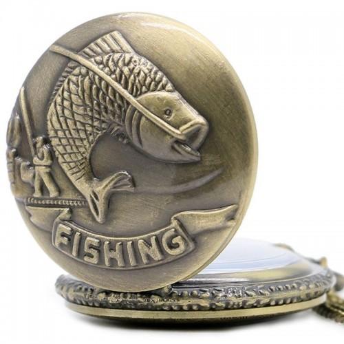 Fishing fickur, halsbandsklocka, bronsfärg, vit urtavla (Djurmotiv) från klockor4you.se