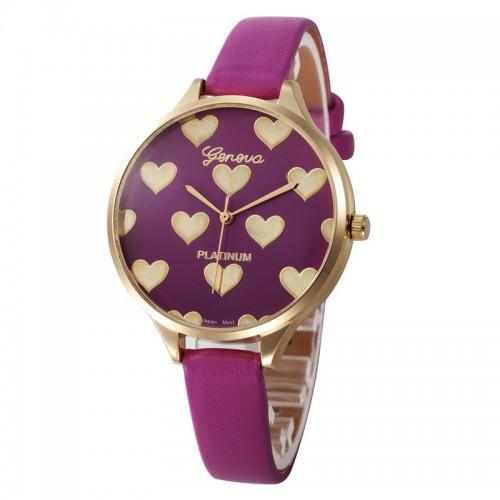 Gyllene hjärtan, Geneva klocka med lila armband purple (Geneva) från klockor4you.se