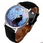 Klocka med katt, modell 2, silverfärgade visare, se bilder (Djurmotiv) från klockor4you.se