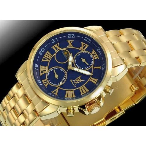 Boreas day-date, dag-natt visare, blå urtavla, modell KB57 (Herrklockor) från klockor4you.se