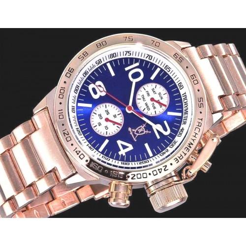 Königswerk, Day-Date, Metallic Blue urtavla, guldfärgat armband (Herrklockor) från klockor4you.se