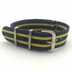 Natoband, NB01, nylon, 20 mm, 3-ring, 12 hål, bra kvalitet (Klockarmband) från klockor4you.se