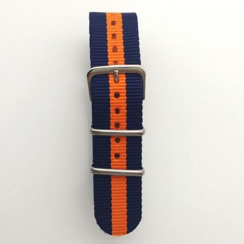 Natoband, NB02, nylon, 20 mm, 3-ring, 12 hål, bra kvalitet (Klockarmband) från klockor4you.se
