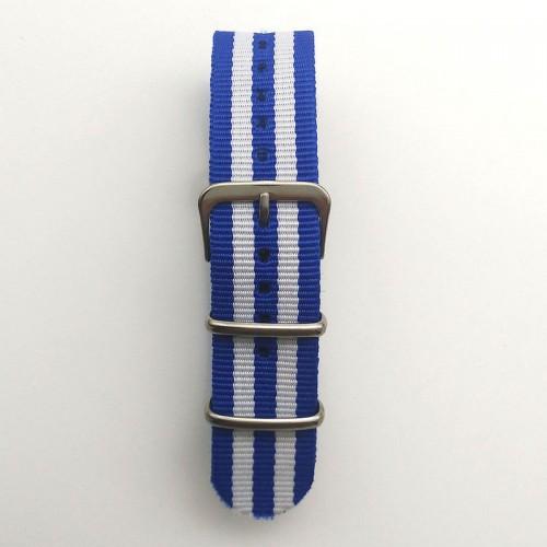 Natoband, NB04, nylon, 20 mm, 3-ring, 12 hål, bra kvalitet (Klockarmband) från klockor4you.se