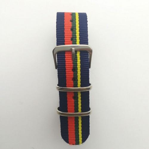 Natoband, NB05, nylon, 20 mm, 3-ring, 12 hål, bra kvalitet (Klockarmband) från klockor4you.se
