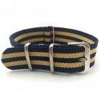 Natoband, NB06, nylon, 20 mm, 3-ring, 12 hål, bra kvalitet (Klockarmband) från klockor4you.se