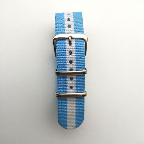 Natoband, NB07, nylon, 20 mm, 3-ring, 12 hål, bra kvalitet (Klockarmband) från klockor4you.se