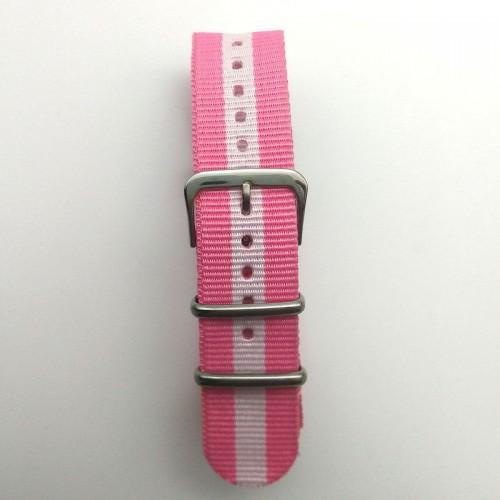 Natoband, NB09, nylon, 20 mm, 3-ring, 12 hål, bra kvalitet (Klockarmband) från klockor4you.se