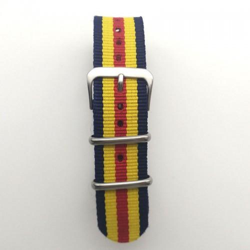Natoband, NB11, nylon, 20 mm, 3-ring, 12 hål, bra kvalitet (Klockarmband) från klockor4you.se