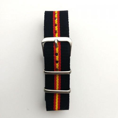 Natoband, NB12, nylon, 20 mm, 3-ring, 12 hål, bra kvalitet (Klockarmband) från klockor4you.se