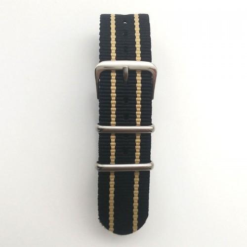 Natoband, NB14, nylon, 20 mm, 3-ring, 12 hål, bra kvalitet (Klockarmband) från klockor4you.se