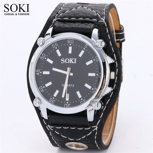 SOKI stor klocka, Quartz, svart urtavla och armband (Barn - ungdomar) från klockor4you.se