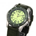 AK Night Vision Military 35mm Army Nylon Canvas Strap, Quartz klocka