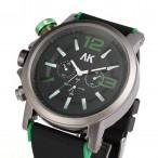 AK Maritime, grön, krona på vänster sida, storlek XL, rubber armband