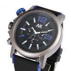 AK Maritime, blå, krona på vänster sida, storlek XL, rubber armband