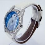 Klocka med vit uggla, kristaller, vit armband (Djurmotiv) från klockor4you.se