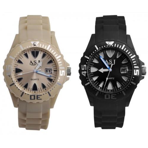 ASJ klocka med datum, det finns i 2 färger (Barn - ungdomar) från klockor4you.se