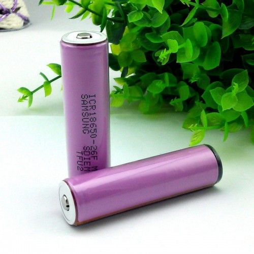 18650 Samsung batteri med skydd 3.7V  ICR18650-26F M, 2600mAh, Li-ion, helt nytt (Batterier) från klockor4you.se