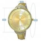 Christian Joy guld färgad klocka med  många kristaller, storlek XL, se bilder (Christian Joy) från klockor4you.se