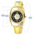 Christian Joy guldfärgad klocka med kristaller, annorlunda design, se bilder (Barn - ungdomar) från klockor4you.se