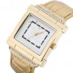 Christian Joy guldfärgad klocka, kristaller, fyrkantig urtavla, se 12 bilder