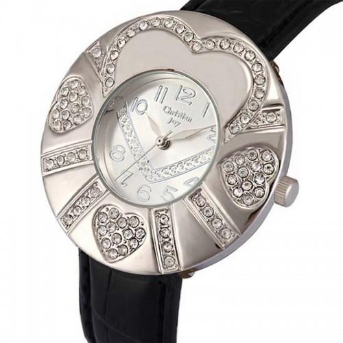 Christian Joy klocka, silverfärgad boett med hjärtan, se 12 bilder (99 kronor) från klockor4you.se