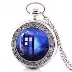 Doctor Who Tardis fickur, halsbandsklocka, Police Box in Space