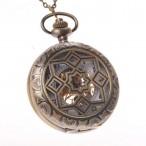 Fickur retro, PW22, glasad baksida, mekaniskt urverk, oanvänt (Hängur, halsbandsklockor) från klockor4you.se