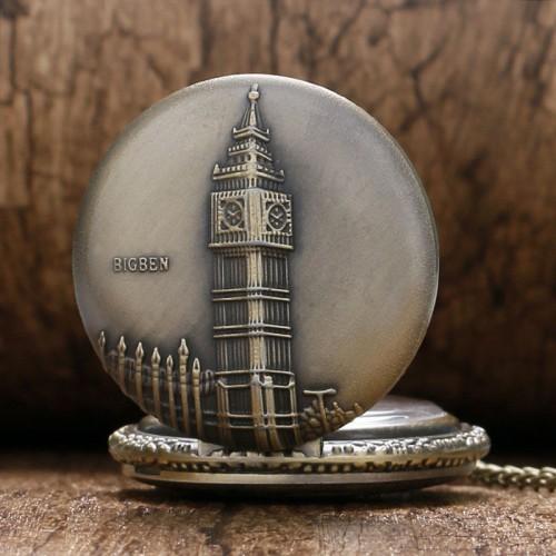 Big Ben, London, brons fickur, halsbandsklocka, kedja ingår (Barn - ungdomar) från klockor4you.se