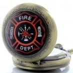 """""""Fire Dept."""", Brandkåren, hängur, fickur, halsbandsklocka"""